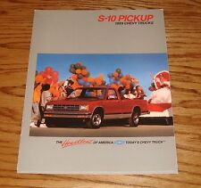 Original 1989 Chevrolet Truck S-10 Pickup Sales Brochure 89 Chevy