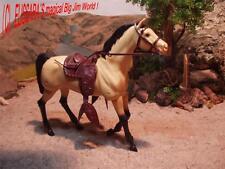 Big Jim - WESTERN Pferd - THUNDER ! Falbe ! Barbie Buckskin Horse - Mattel