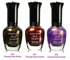 kleancolor nail polish lacquer-Lot of 3 Chunky Holo Colors