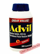 Advil Ibuprofen 200mg 300 Tablets Pain Reliever/Fever Reducer, Free Ship #(RED)