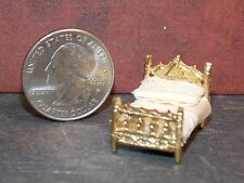 Dollhouse Miniature Bed Bedroom 1:48 Quarter Scale 1/4 Dollys Gallery  H126