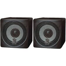 "PYLE HOME PCB3BK 3"" 100-Watt Mini-Cube Bookshelf Speakers (Black)"