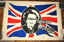Billy Childish Jamie Reid GOD SAVE Margaret Thatcher Serigrafia Firmata Art Print