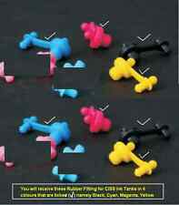 2 Sets of 4 Rubber Fittings for CISS Ink Tanks - Black, Cyan, Magenta and Yellow