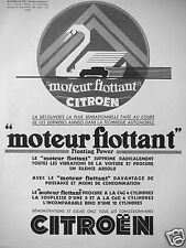 PUBLICITÉ 1932 MOTEUR FLOTTANT CITROËN - ADVERTISING