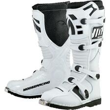 Moose Racing M1.2 Dirt Bike Off Road Motocross Motorcycle Boots Size 10 White