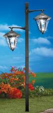 "Adjustable Solar Two Light Lamp Post Lawn Garden Stake 44 1/2""H"