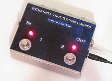 2-Channel True Bypass Looper Switcher ~ Two Loops Hand-Wired in U.S.A. Hand-Made