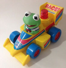 Vintage 1989 Muppet Babies Baby Kermit Racer Battery Operated Toy Car by illco