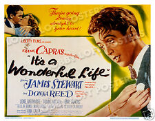 It'S A Wonderful Life Lobby Title Card Poster 1946 James Stewart Donna Reed