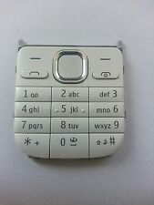 Original Nokia C2-01 Keypad Keyboard Cover Front Cover white