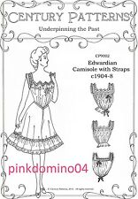 1905 Edwardian Camisole Pattern, Multisize Bust 30 to 48 inches