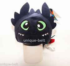 New Plush 3D Black How to Train Your Dragon Toothless Night Fury Hat Cap Beanie