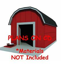 """30"""" x 36"""" Dog House Plans - Gambrel Roof - Pet Size To 60 lbs - Med. Dog - 11"""