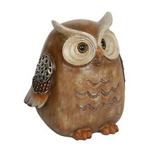 Wood Effect Owl Bird  Figurine 12.5cm Bird Lovers Gift  in box  23653