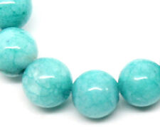 2 Strands Charm Amazonite Semi-Precious Gemstone Loose Beads Round 6mm