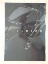 PONTIAC FIREBIRD 1998 French Mkt Glossy Sales Brochure - Trans Am