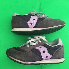 SAUCONY JAZZ LOW PRO baby's fashion purple leather walking shoes size--8M