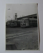 USA711 WEST TOWNS STREET RAILWAY - CAR BARN TROLLEY 133 139 104 PHOTO Illinois