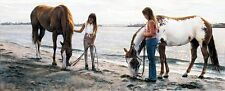 """Steve Hanks, """"Connections"""", limited edition print, Girls with horses"""