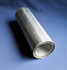 "76mm bore (3"") 4"" Round x 12"" Long Universal Stainless steel exhaust silencer"