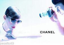 PUBLICITE ADVERTISING  046  2010  Chanel   lunettes solaires  (2p)