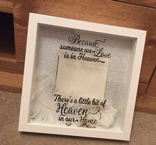 PERSONALISED WITH ANY NAME We Love Is In Heaven Remembrance Photo Memory Frame