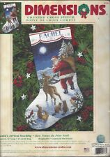 Dimensions SANTA'S ARRIVAL Counted Cross Stitch Christmas Stocking Kit Sealed