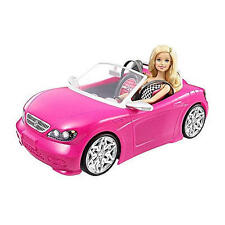 Barbie Doll Car Toy Convertible Pink Girls Vehicle Glam Sparkle Malibu Rims