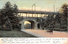 Ohio postcard Cincinnati, Entrance to Eden Park ca 1907