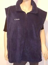 COLUMBIA Sportswear Company Mens XL Polar Fleece Vest Navy Zip Front