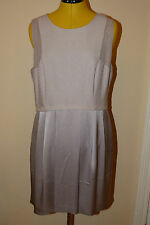BRAND NEW Reiss GIGI Textured Dress. Ice Grey. UK Size 16