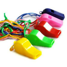 FD2574 Plastic Whistle Lanyard Children Kids Party Bag Filler Toys ~Random~ 4PCs