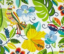 Outdoor/ Indoor ~ Upholstery ~ Birds ~ Tropica Floral~Yellow~Fabric~  per 1 yard