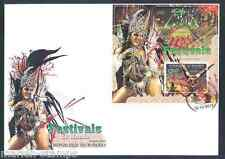 BURUNDI 2012  'FESTIVALS OF THE WORLD' CARNAVAL SOUVENIR SHEET FIRST DAY COVER