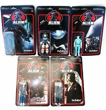 "Alien set 5 figures ReAction Toys 2014 NEW funko 3.75"" sale"