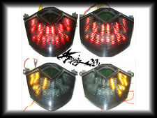 LED Tail Light Turn Signal For Kawasaki 09-14 ZX6R 08-10 ZX10R 07-08 Z1000 Smoke