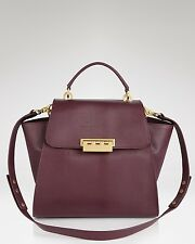 Z SPOKE ZAC POSEN PLUM LIZARD EMBOSSED LEATHER EARTHA SATCHEL~EXCELLENT!