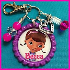 Personalized DOC McSTUFFINS Bottle cap, Name Necklace, Jewelry, Zipper Pull