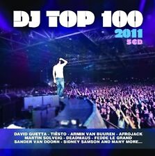 DJ TOP 100 2011 (TIESTO, DEADMAU5, DAVID GUETTA, MARTIN SOLVEIG,...) 5 CD NEU