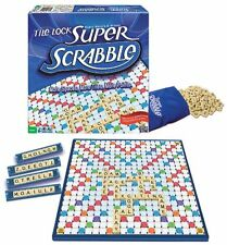 New Super Scrabble Deluxe Edition w Tile lock Gameboard board Game