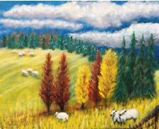 Sheep Painting CLP Artist Carrie Lynn #Art #Country #Chic #Decor
