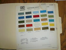 1969 & 1970 Lincoln Mark III & Thunderbird R-M Color Chip Paint Samples -
