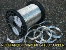 SILVER PLATED COPPER WIRE 12 GAUGE 2mm  NICKEL FREE - TARNISH RESISTANT 500g