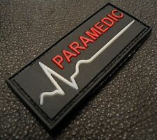 PARAMEDIC PVC GLOW IN THE DARK EMT EMS US ARMY USA VELCRO® BRAND FASTENER PATCH