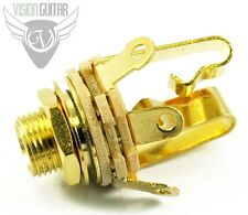 "NEW! Switchcraft #12B Stereo 1/4"" INPUT JACK - Entirely GOLD PLATED"