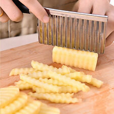 1pc Stainless Steel Shredder Multifunction Knife Potato Fries Ripple Wave Cutter