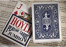 Hoyle Jumbo Index Blue Deck Playing Cards Poker Size USPCC Plastic Coated Sealed