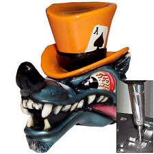 Orange Wolf Top Hat shift knob w/ chrome adapter for automatic shifter See desc.