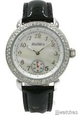 New Elgin Women Sub-Dial Crystals Dress Watch Pearl Dial 40mm EG7072